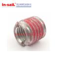 Screwlocking External Thread Insert Nut Slotted for Aluminium Light Alloy