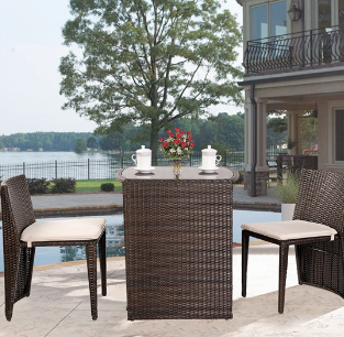 rattan chat furniture set