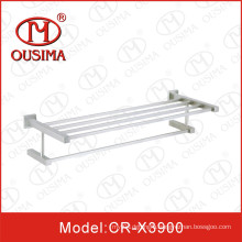 Stainless Steel Wall Mounted Double Square Bathroom Towel Shelf Towel Bar