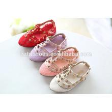 Sandálias de meninas de moda rendas e rebite decoração miúdos verão sandálias