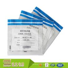 Función de protección bien autoadhesiva Sello resistente a la seguridad de la bolsa de plástico a prueba de manipulaciones