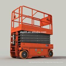 sistema de elevación hidráulica motorizada móvil, plataforma elevadora de tijera interior