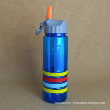 Plastic Water Bottle, PC Bottle with Straw