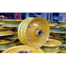 16inch Yellow Steel Rubber Wheel Rim