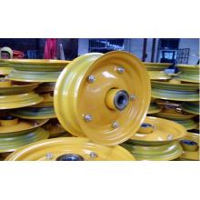 Jante de roda de borracha de aço amarelo de 16 polegadas
