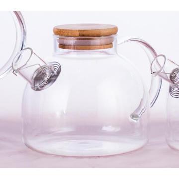 tetera de vidrio borosilicato con infusor