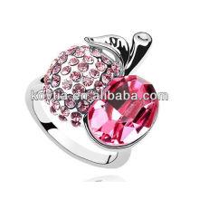 Grossista caro rubi anéis de casamento para a noiva