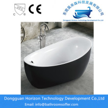 Synergy Acrylic Freestanding Bathtub with Brass Drain