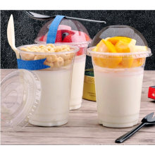 Disposable Pet Plastic Cup with Pet Lid