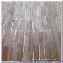 Panneau de jointoiement de bois en acacia à grade AB 8x4