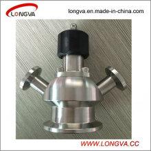 Válvula de muestra de abrazadera aséptica sanitaria de acero inoxidable
