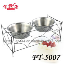 Stainless Steel Craft Pet Bowl (FT-5007)