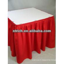 Banquet élégante jupe de table plissée