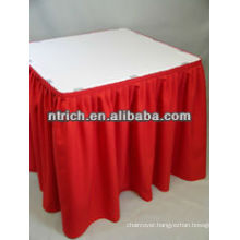 Elegant banquet pleated skirt for table