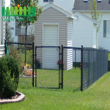 PVC+Black+Chain+Link+Fence+for+Grass+Land