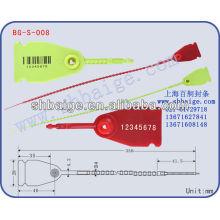 faixa de vedação de plástico BG-S-008, selo de contêiner