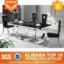 italian style luxury dining room furniture black marble top dining table