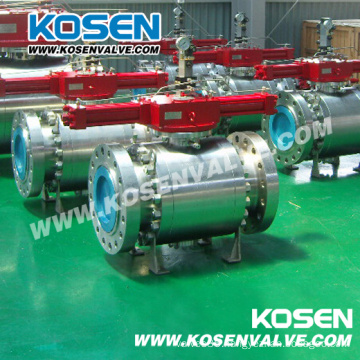 Forged Flange Trunnion Ball Valves with Pneumatic Actuator
