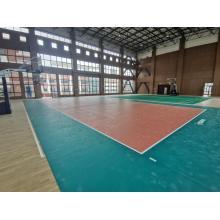 Sports flooring of Litchi Pattern Indoor Badminton Court Sport Vinyl Flooring Roll 3.5 4.5 green red grey color