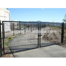Galvanized and PVC Coated Iron wires fencing Sliding Gate