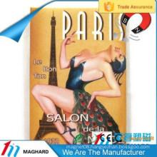girl sexy image Paris eiffel tower iron tin metal fridge magnet tourist souvenirs