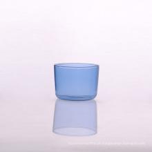 Vidros de Borosilicate de vidro da linha aérea azul 7oz