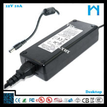 Adaptateur secteur masse 12V 10a UL cUL CE FCC GS SAA C-tick KCC 120W