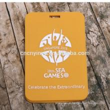 Etiquetas de bagagem macia pvc nome promocional personalizada