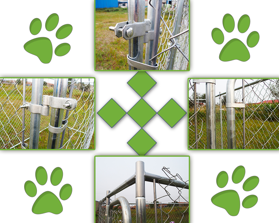 10x10 chain link dog kennel