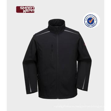 Chaqueta de softshell de la chaqueta de polar de softshell de invierno al aire libre para hombre con capucha