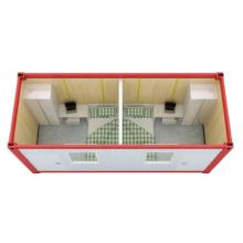 Casa de contêiner de embalagem plana de 2 quartos