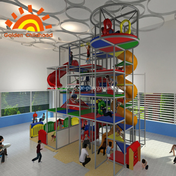 Playground Indoor Kids Com Slide Para Venda