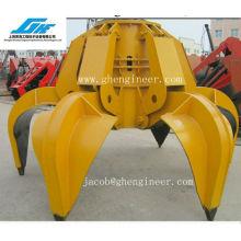 Electric Hydraulic Orange Peel Grab para carbón y arena