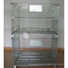 Gaiola de armazenamento de fio de aço dobrável