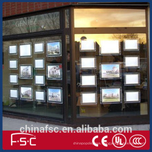 Real estate agent window led display box