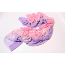 Nouveau design très mince et écharpe en soie de cachemire douce