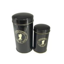 Tee-Zinn-Kasten-Verpackungs-Schwarz-Farben-Pritning Großverkauf