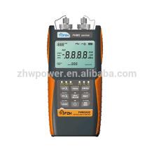 FHM2B02 Conjunto de prueba de pérdida óptica, medidor de potencia de fibra y fuente láser, Multímetro óptico con menú en inglés