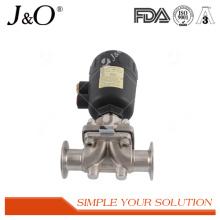 Soupape à diaphragme pneumatique sanitaire d'acier inoxydable de vente chaude
