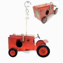 Hot Garden Hanging Decoration Metal Tractor Birdhouse Craft