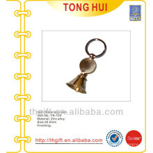 Gold 3D Bell shape key chains/metal keyrings
