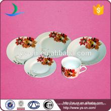 20pcs bela rodada cerâmica doméstica houseware