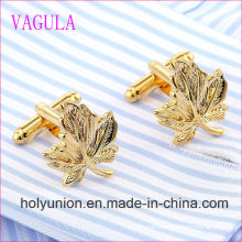 VAGULA Quality Hot Selling Brass Leaf Gemelos Cuff Links   (318)