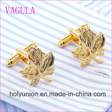 VAGULA Qualidade Venda Quente Folha De Bronze Gemelos Abotoaduras (318)
