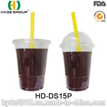 Tasse en plastique jetable de 15oz avec le couvercle pour le jus