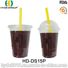 15oz Disposable Plastic Cup with Lid for Juice