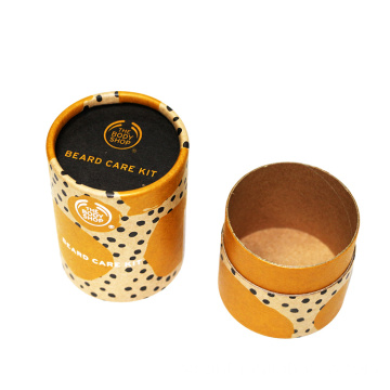 Custom Printed Brown Kraft Tube För Cookie Packaging