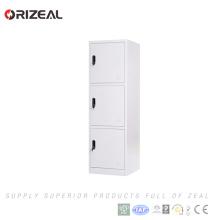 Orizeal comercial elegante diseño compacto laminado 3 niveles armarios usados para la venta (OZ-OLK009)