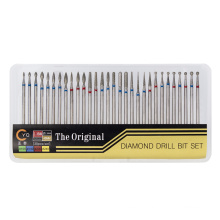 Silver color Nail  Drill Bits set Diamond for nail drill machine with factory price