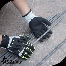 SRSAFETY Chinese Cut Resistant Impact Gloves TPR Cut Resistant Gloves Impact Resistant TPR Gloves